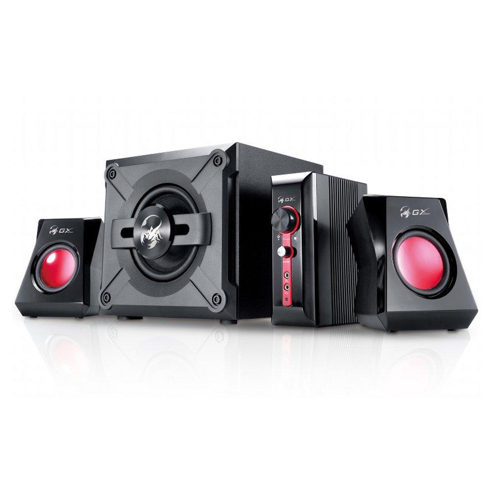 Genius SW-G2.1 1250 - Sistema de altavoces (38 W, subwoofer, unidad de control), color negro y rojo GENIUS GmbH
