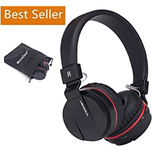 Active Noise Cancelling Wired/Wireless Bluetooth Headphones with Mic,Monodeal Foldable on the Ear