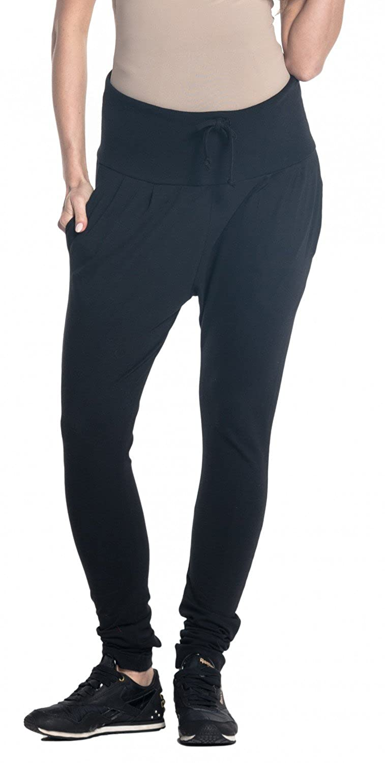 Happy Mama. Womens Maternity Pants Elastic Belly Band Trousers Drop Crotch. 583p pregpants_583