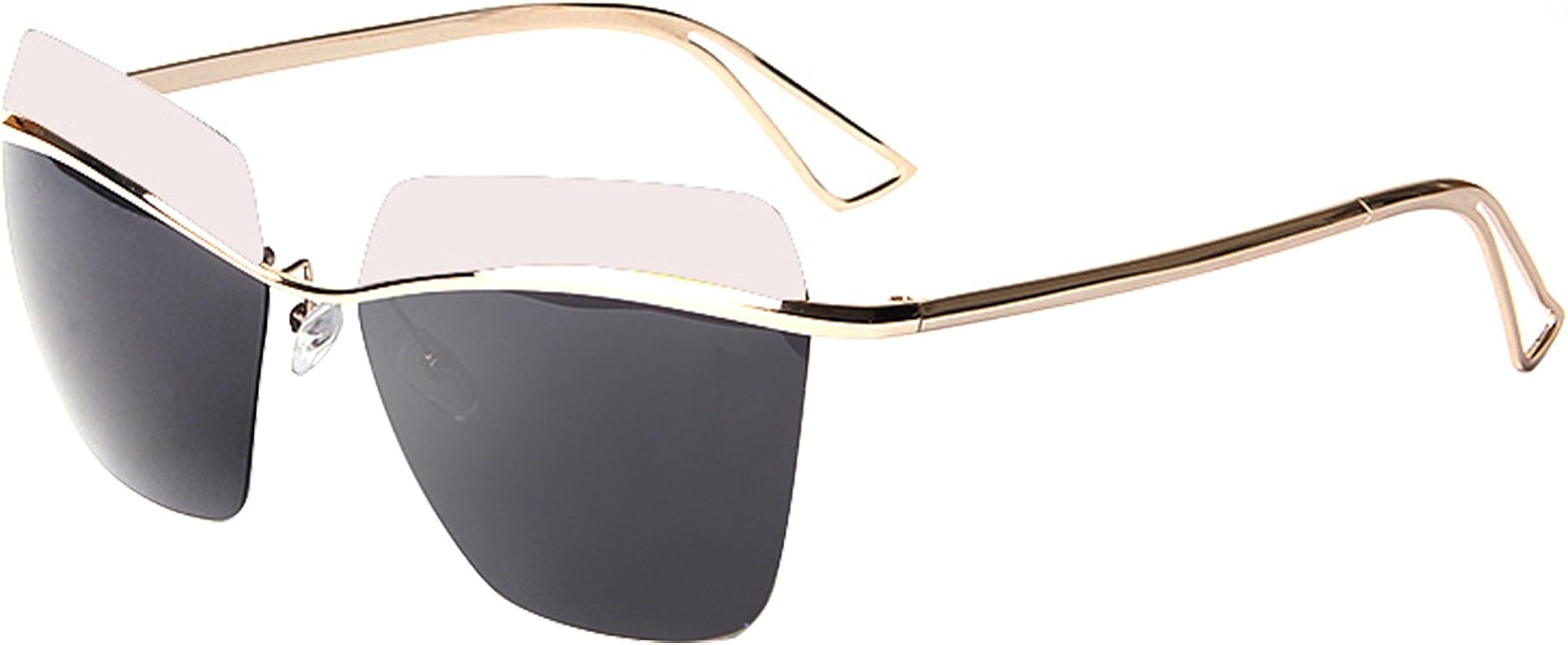 Double Bridge Metal Aviator Men Women Designer sunglasses with Pouch