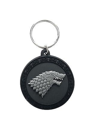 Amazon.com: Game Of Thrones Llavero Casa Stark logotipo ...