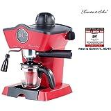 Rosenstein & Söhne Espressomaschine Retro: Dampfdruck-Siebträger-Espressomaschine mit Milchaufschäumer (Espressomaschine Siebträger Retro)