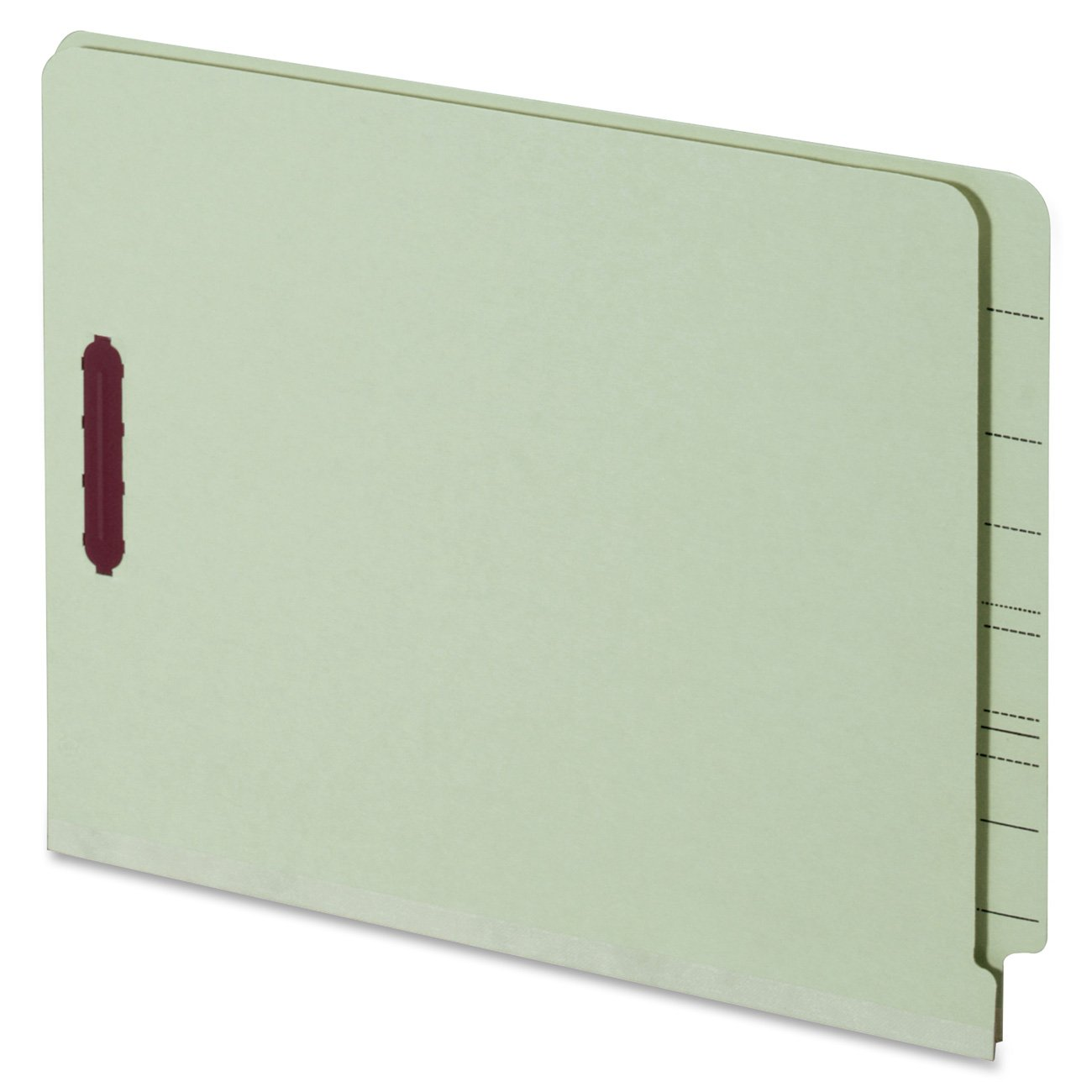 Globe-Weis End Tab Pressboard Fastener Folders, Letter Size, 1-Inch Expansion, Embedded Fasteners, Light Green, 25-Count (44705) PFX44705