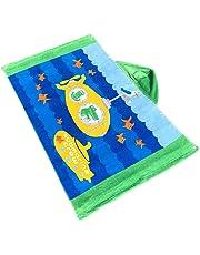 laamei Niños Toalla de Baño Grande de Algodón Dibujos Animados Capa de Baño con Capucha Poncho