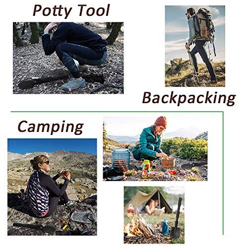 Portable Folding Gardening Shovel Pickaxe with Carrying Pouch Lightweight Durable Military Multitool Tactical Spade for Outdoor Camping Hiking Backpacking Trench Digging Garden Tool Emergency by Yeacool (Image #5)