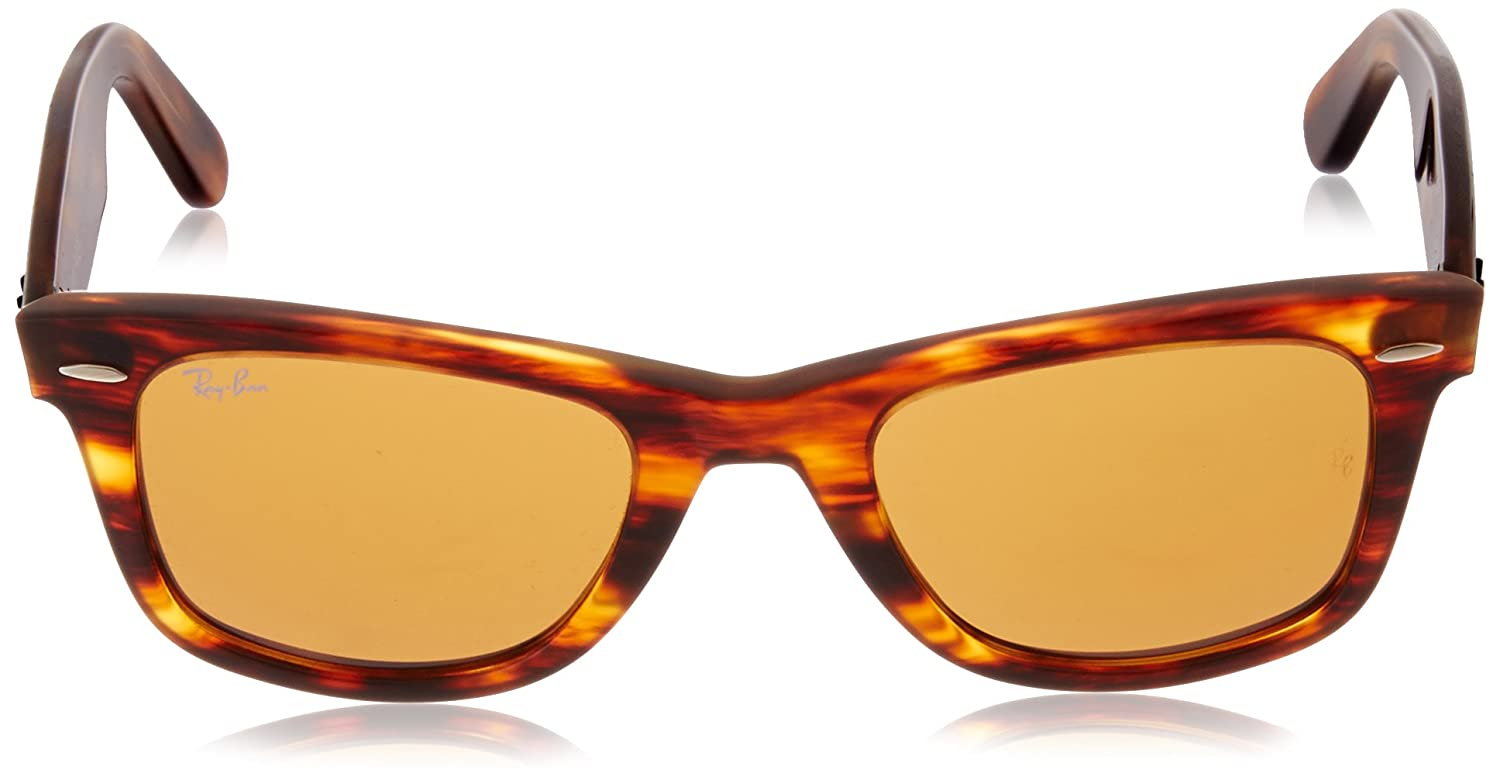 d3a97b22ea45 Ray-Ban Wayfarer Sunglasses (Brown) (RB-2140-954)  Ray-Ban  Amazon.in   Clothing   Accessories