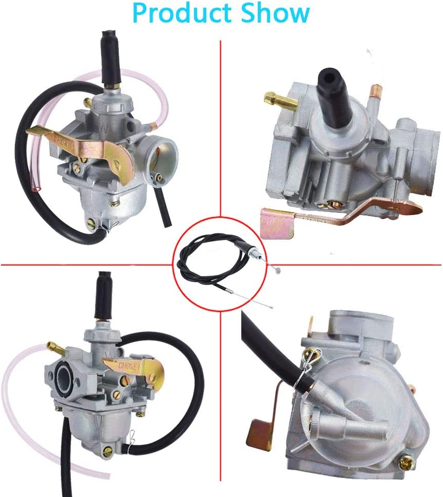 labwork Carburetor and Throttle Cable Fit for Honda 2004-2017 CRF50F 2000-2004 XR50R 1972-1978 Z50A 1979-1999 Z50R Z50RD Z50
