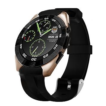 Kivors G5 Reloj Inteligente Bluetooth 4,0 con Monitor de Frecuencia Cardíaca Fitness Tracker Sincronización con Smartphone Llamada SMS Recordatorio ...
