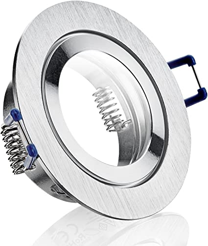 Einbaustrahler Edelstahl Optik schwenkbar Deckenstrahler Licht MR16 12V GU10