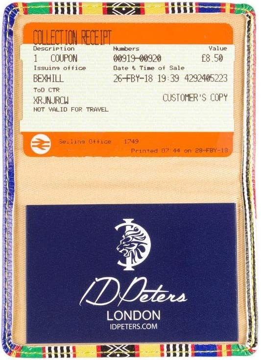 Portadocumenti Premium 2 Pieghevoli Carte di Credito Marchio britannico di Londra Contactless e Oyster Card