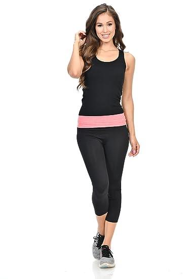 239a643d03e0d Diamante Women's Power Flex Yoga Pant Legging Sportswear · Style P162021 ·  Black · Size One