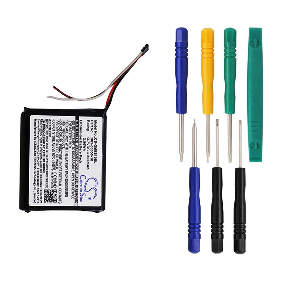 Cameron Sino 800mAh Battery for Garmin Edge 510 with 7/pcs Toolskits