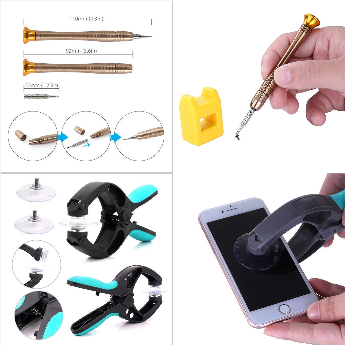 37 in 1 Professional Repair Tool kit Tool kit for Mobile Phone and Smartphone /& Multimedia or Other Small appliances Mobile Phone Repair Tools Kit
