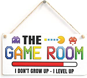 Meijiafei The Game Room I Don't Grow UP - I Level UP - Gaming Room Sign Great Small Gift Idea for Gamers 10