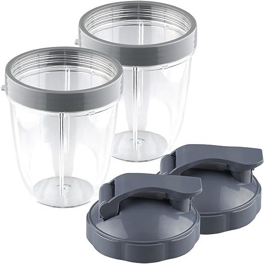 Replacement Nutri Bullet 18 oz Small Cup For NutriBullet Blender 2-Pack