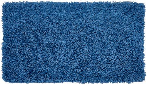 Gözze Teppich, 100% Baumwolle, Wollgarn-Hochfloroptik, 60 x 100 cm, Fjord, 1010-2247-74