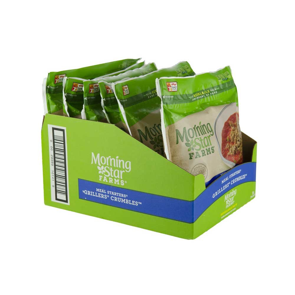 MorningStar Farms Meal Starters Grillers Crumbles, 12 Ounce - 6 per case.