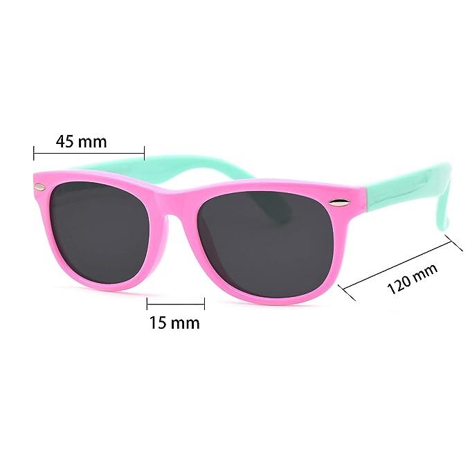 Amazon.com: Juslink - Gafas de sol para niños pequeños, 100 ...