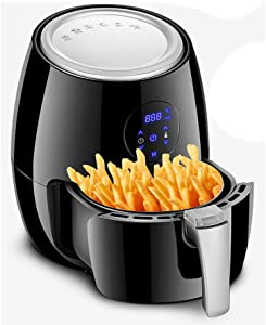 ZC Dawn Electric Fryer, Digital Indoor Electric Turkey Fryer Oil Free French Fries Machine Intelligent Smokeless Fryer EU/US Plug,US
