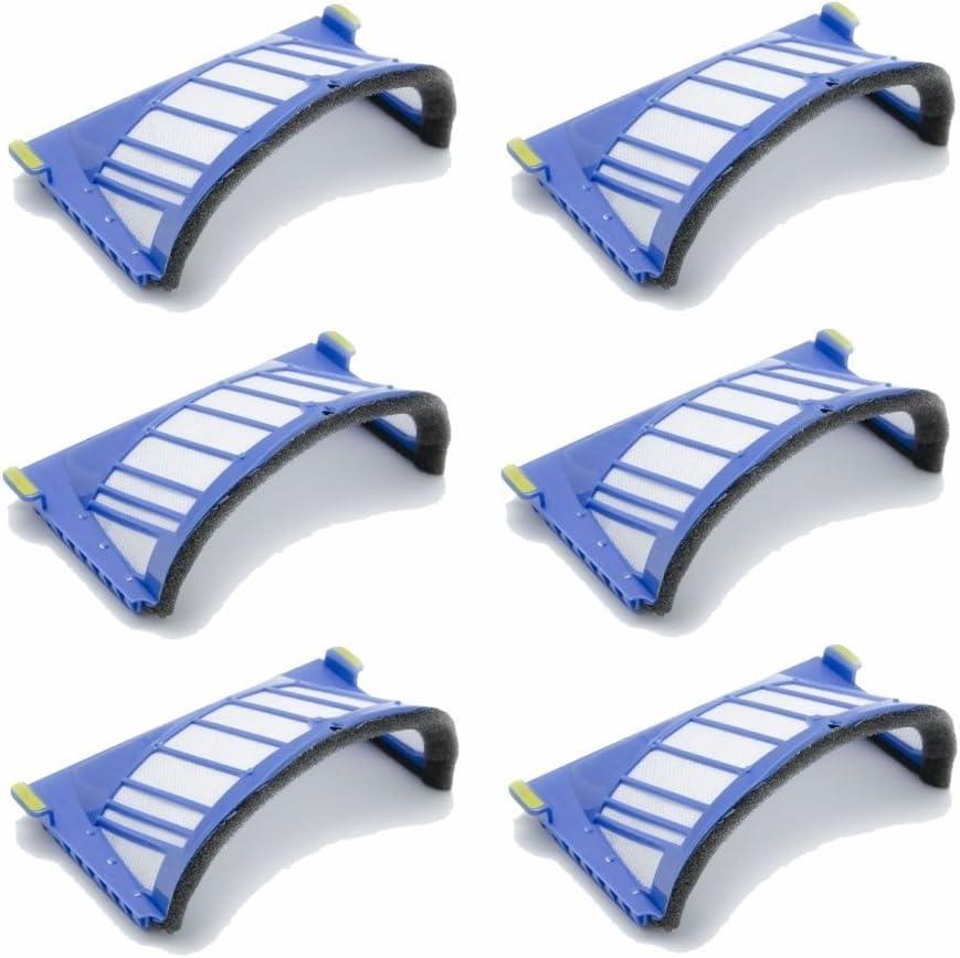 Kit 6 filtros AeroVac Pet para iRobot Roomba 660 Serie 661 662 663 664 665 666 667 668 669 670 671 672 673 674 675 676 677 678 679 680 garantía JSD: Amazon.es: Hogar