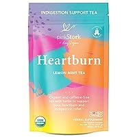 Pink Stork Heartburn Tea: Lemon Mint, 100% Organic, Heartburn Pregnancy Relief +...