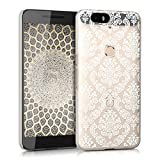 kwmobile Crystal Case for Huawei Google Nexus 6P with Design Baroque - transparent Protection Case Cover clear in white transparent