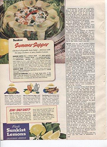 Fresh Sunkist Lemons Summer Supper Recipes Lemons Are Good For A Low-Salt Diet 1953 Vintage Antique Advertisement