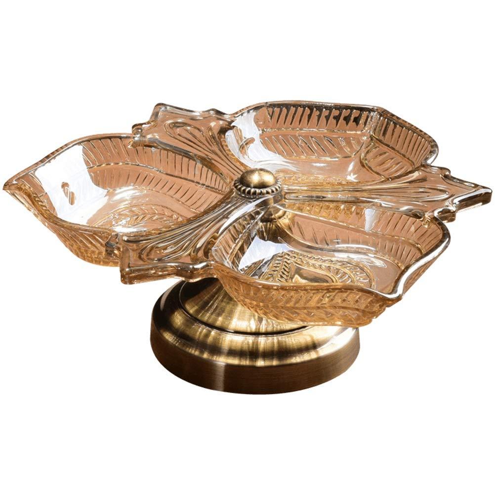 XL_FRUIT ガラスフルーツバスケット、リビングルームクリエイティブ分割キャンディーフルーツラックホーム現代のフルーツ皿プレートクリスタルスナックボックスドライフルーツフルーツホルダー収納   B07S87W8NB