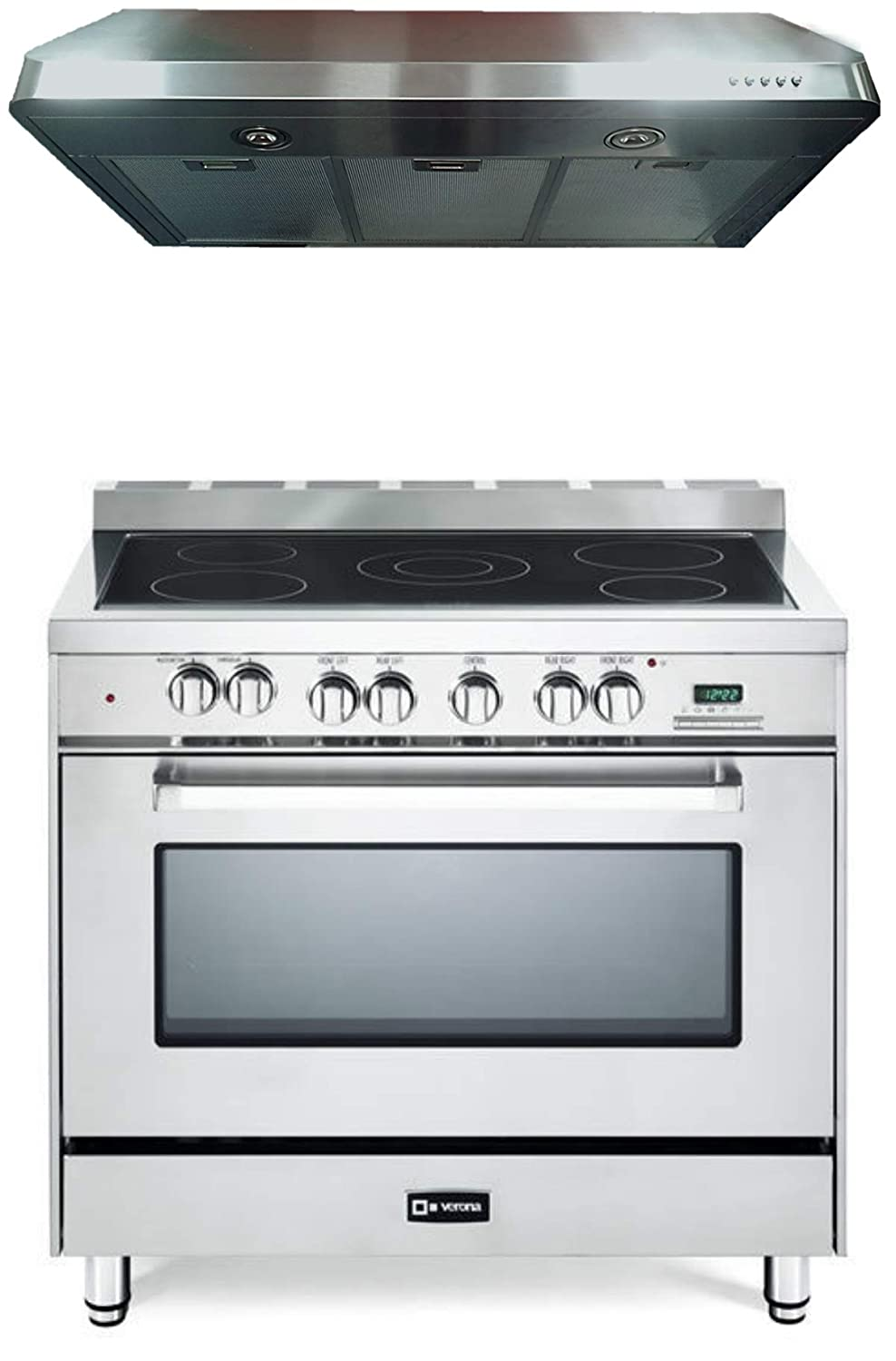 36 Electric Range >> Amazon Com Verona Stainless Steel Kitchen Package