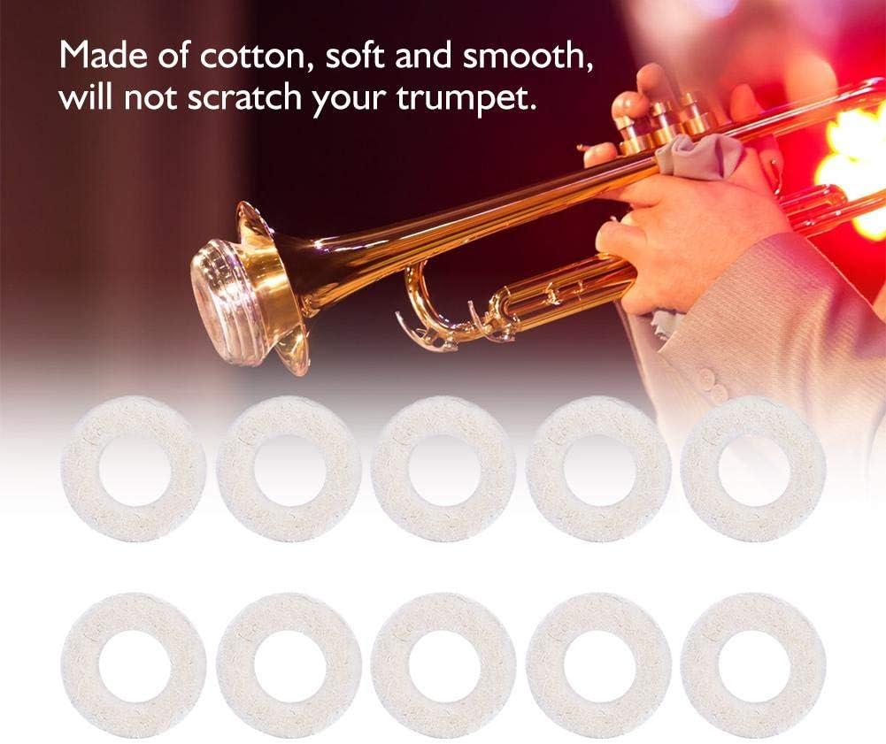 10 Stück Trompete Filz Unterlegscheiben Kissen Pad Messing Instrument Zubehör