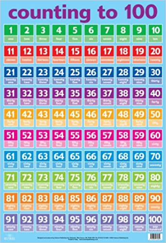 Number Names Worksheets number words 1-100 : Numbers 1-100 (Wall Charts): Amazon.co.uk: 9781859972854: Books