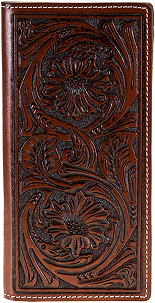 Twisted X Floral Tooled Leather Rodeo Wallet