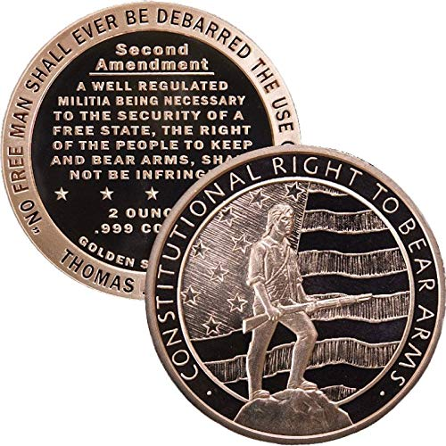 2 oz .999 Pure Copper Round/Challenge Coin (Second Amendment - Right to Bear Arms)