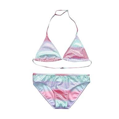 K-Youth® Bañador para Niñas Verano 2019 Rebajas Gradiente Lentejuelas Traje de baño Dos Piezas Bebé Niña Bikini para niñas Playa Bañadores Niña Tops y ...