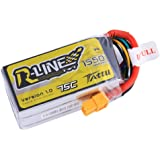 Tattu 14.8V 75C 4S 1550mAh R-Line LiPo Battery Pack with XT60 Plug for FPV Racing QAV 250