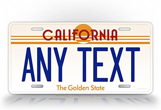 Amazon com: Custom Vintage California State Auto Tag Official