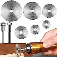 Skärskivor för roterande verktyg, HSS skivborrblad, mini cirkelsågblad för träplast metallskärning (8 st)