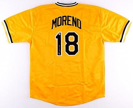 Omar Moreno #18 Signed Pittsburgh Pirates Jersey (TSE COA) at ...