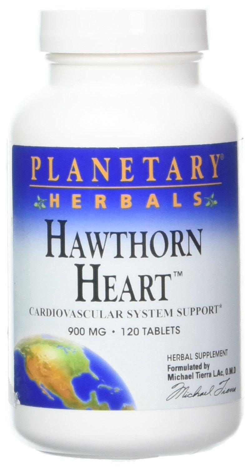 Hawthorn Heart Formula, 120 Tablets, 900 mg, From Planetary Formulas
