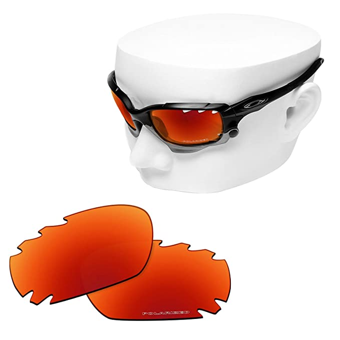 56ab4afcd3795 Amazon.com  OOWLIT 2 Pair Replacement Sunglass Lenses compatible with Oakley  Jawbone Vented POLARIZED  Clothing