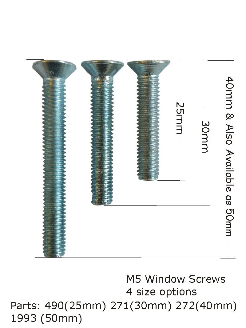 window handle fix screw bag of 10 - 30mm long Gardinia