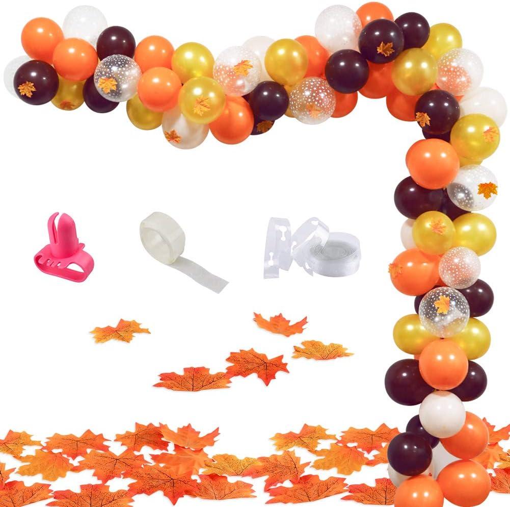 UTOPP 70PCS Little Pumpkin Balloon Garland Kit,Autumn Theme Party Balloon Arch Decor,Orange,Gold,Brown and Confetti Balloons Backdrop Arch for Little Pumpkin,Baby Shower,Little Pumpkin birthday Party