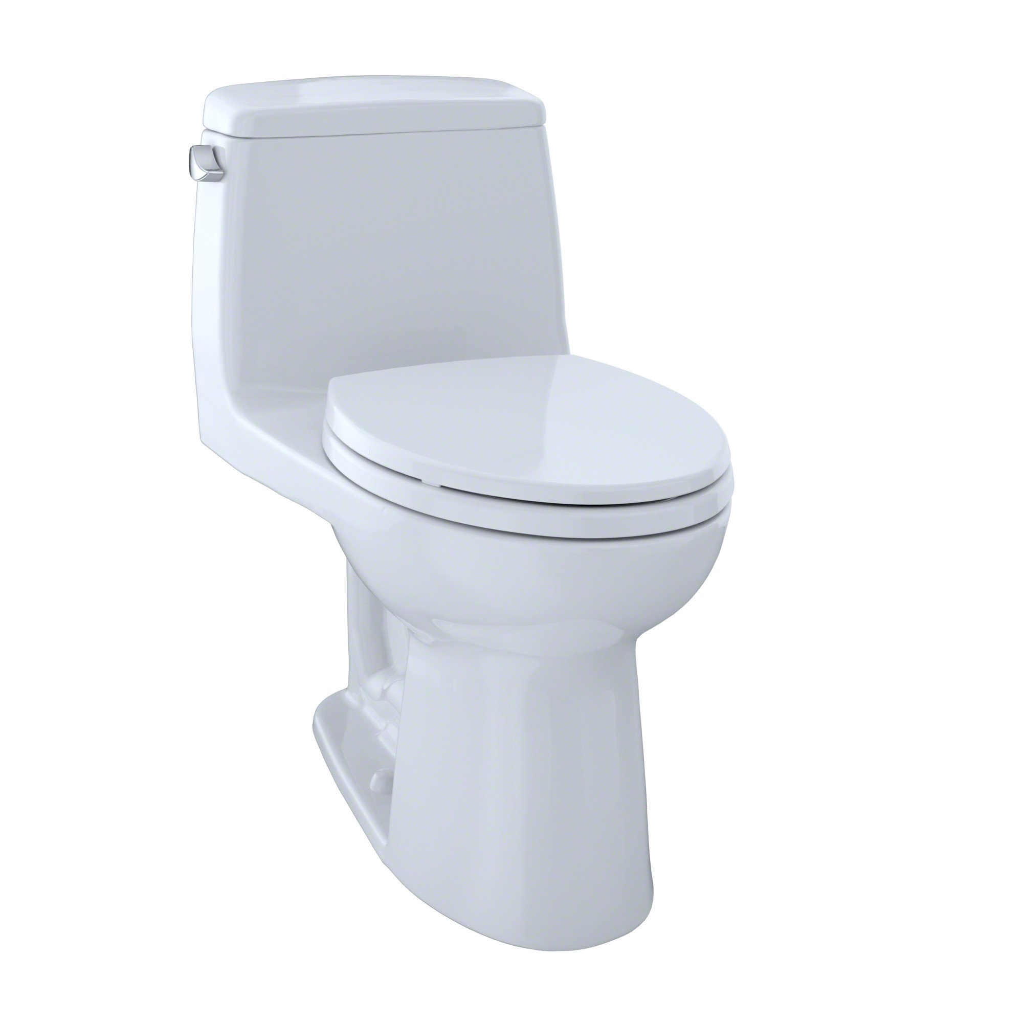 TOTO MS854114E#01 Eco Ultramax Elongated One Piece Toilet, Cotton White by TOTO
