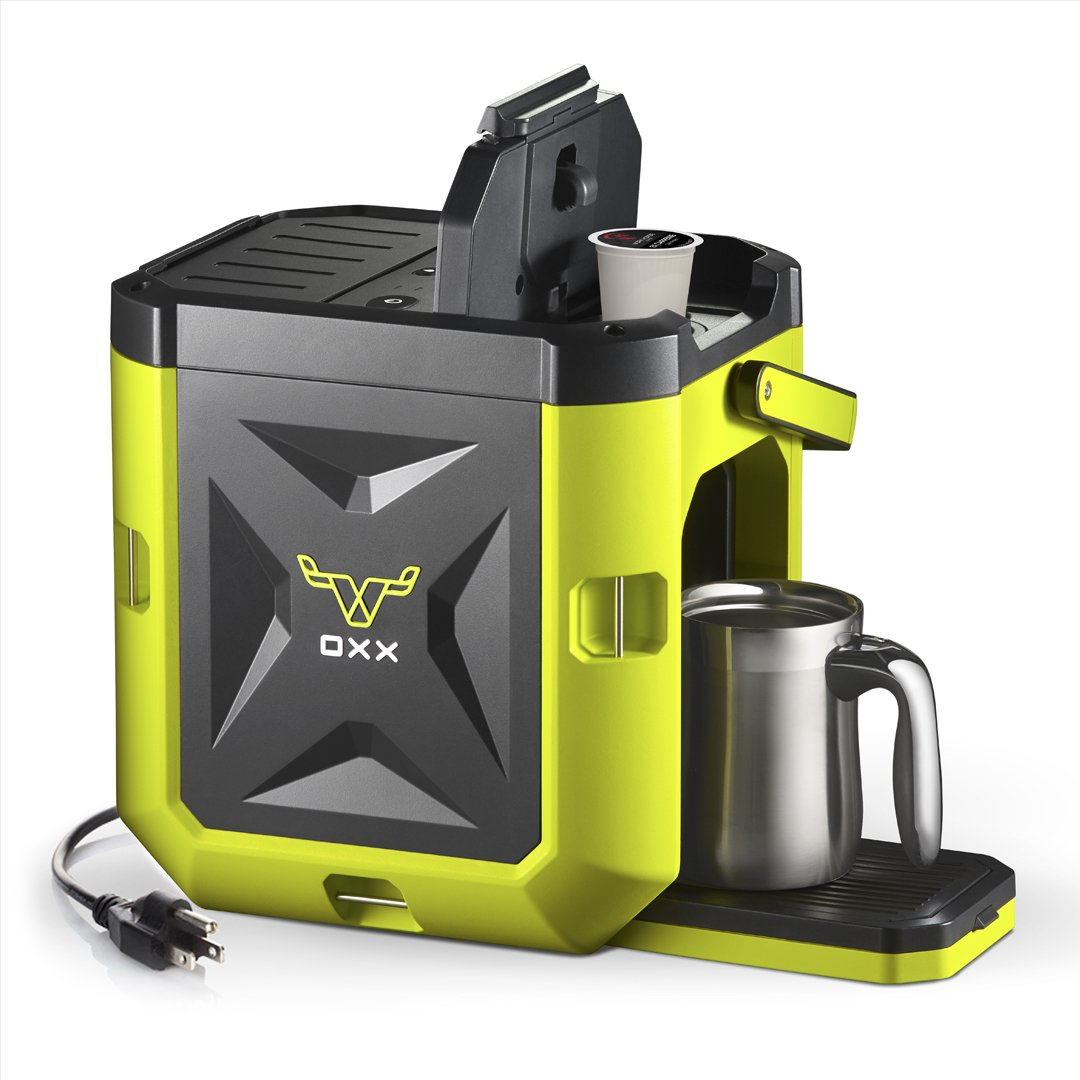 OXX COFFEEBOXX Jobsite Single Serve Coffee Maker, Green