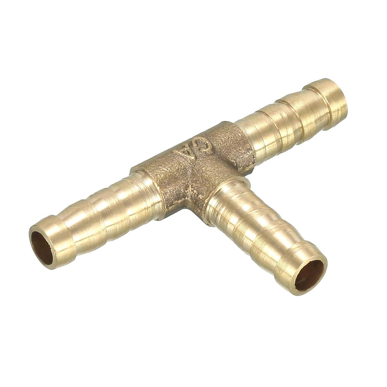 ZXYAN tee T Conector de 3 v/ías Barb Tubos de lat/ón Conexi/ón de Manguera 6 mm 1 Paquete