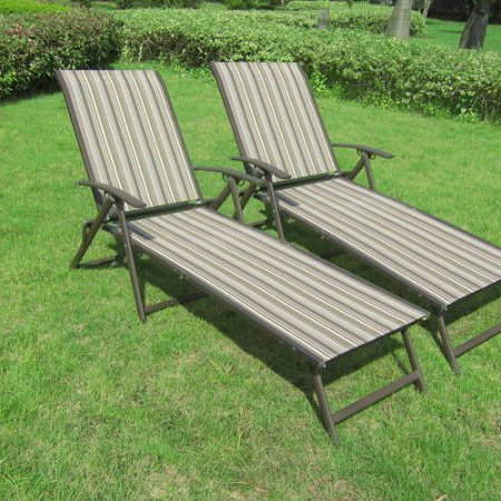 Outdoor Chaise Lounge Chair Set Folding Patio Pool Furniture Clearance 2 Piece