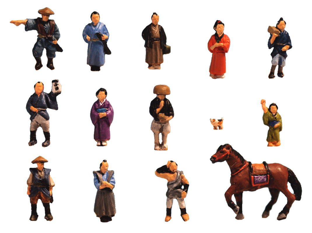 オーロラモデル1 / 150 Historical Figures The PeopleのEdo日本1 / 144 Nゲージht04 B076DJBL4Z