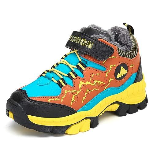 Botas de Invierno para niños Antideslizantes Zapatos de Trekking para niños Calzado Casual y cálido Botines de algodón de Felpa Zapatillas de Deporte para ...