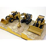 CAT 320E, D7E and 980K (Set of 3 Vehicles) Scale Diecast Metal Model