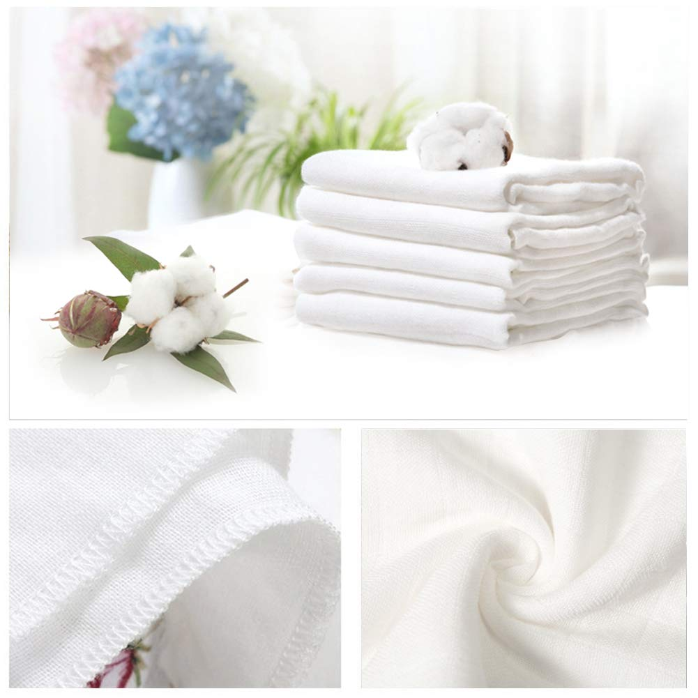 Muslin Squares 6 Layer Baby Muslin Cloths 5 Pack Super Soft /& Absorbent Washable at 90/°C 35x50cm by YOOFOSS